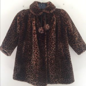 Other - Toddlers Leopard Faux Fur Coat approx size 4